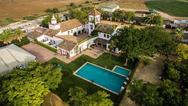 Vista aérea de la Hacienda de Orán