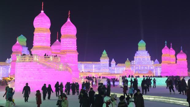 Inauguración del Festival Internacional de Esculturas de Nieve en Harbin (China)