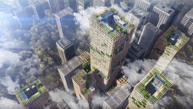 En Japón se construirá un rascacielos de madera de 350 metros de alto para 2041