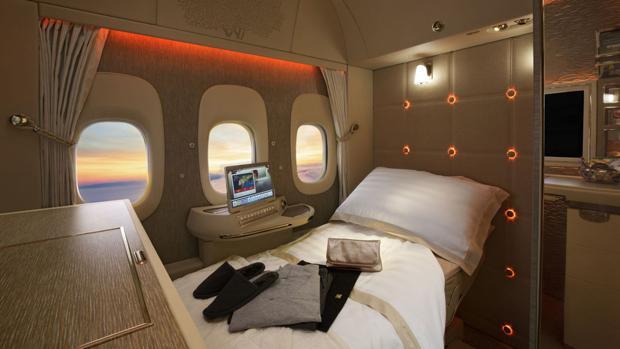 Imagen de la nueva suite de Emirates, que presenttará en el Arabian Travel Market