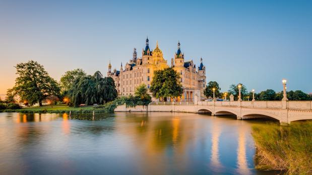 Castillo de Schwerin, en el estado de Mecklemburgo-Pomerania Occidental