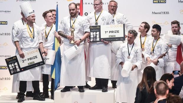 Podio del Bouse d'Or , con Noruega, Suecia y Dinamarca