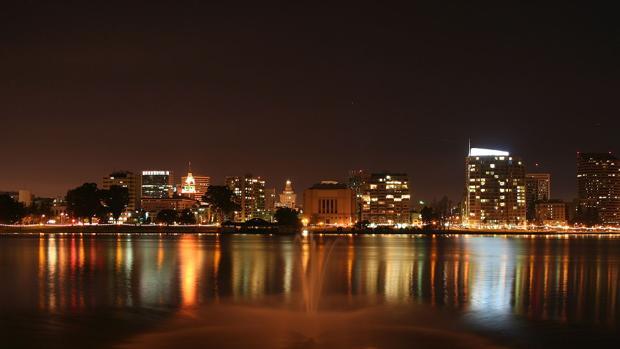 La ciudad californiana de Oakland, situada en la parte oriental de la bahía de San Francisco