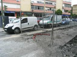 Las obras del carril bici «atascan» San Vicente de Paúl o San Jacinto